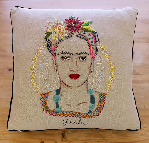 Frida Kahlo pillow project!