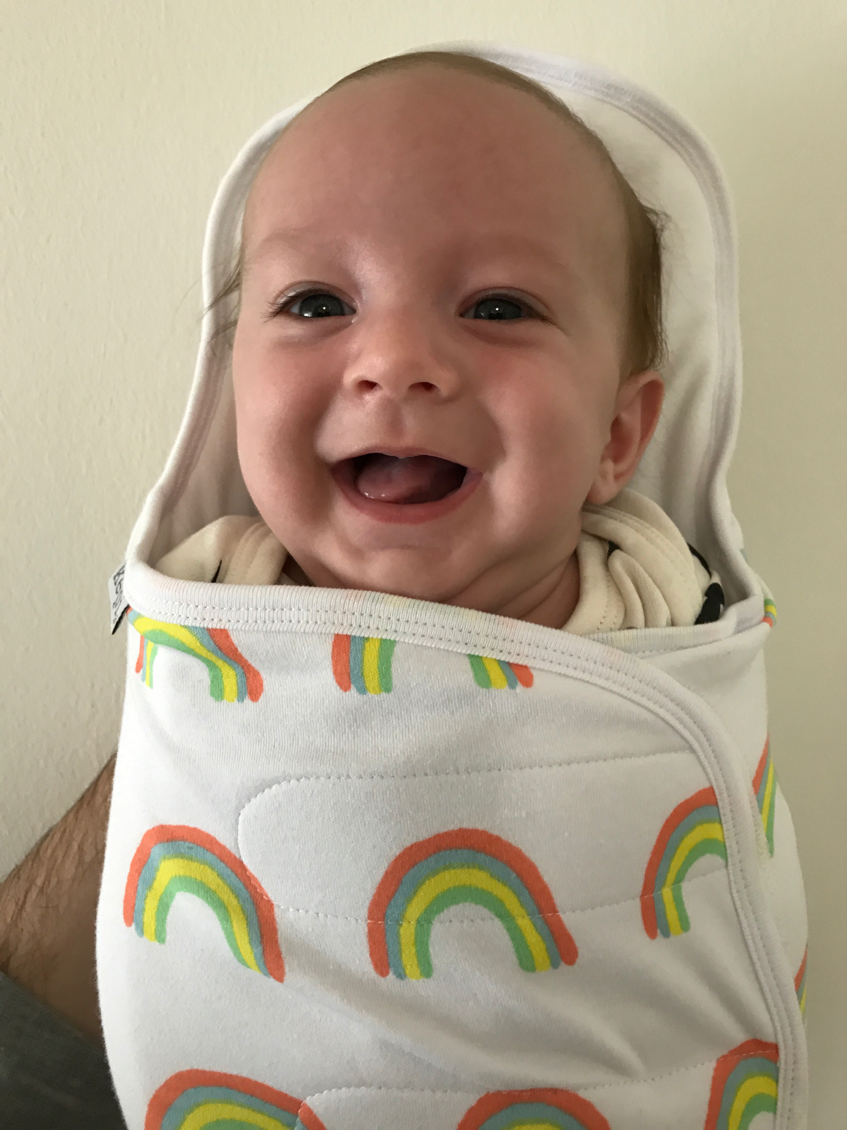 My big rainbow baby in his rainbow Kepi.