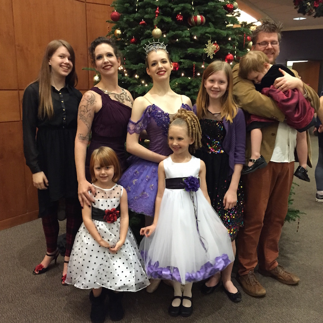Ophelia and her family after The Nutcracker