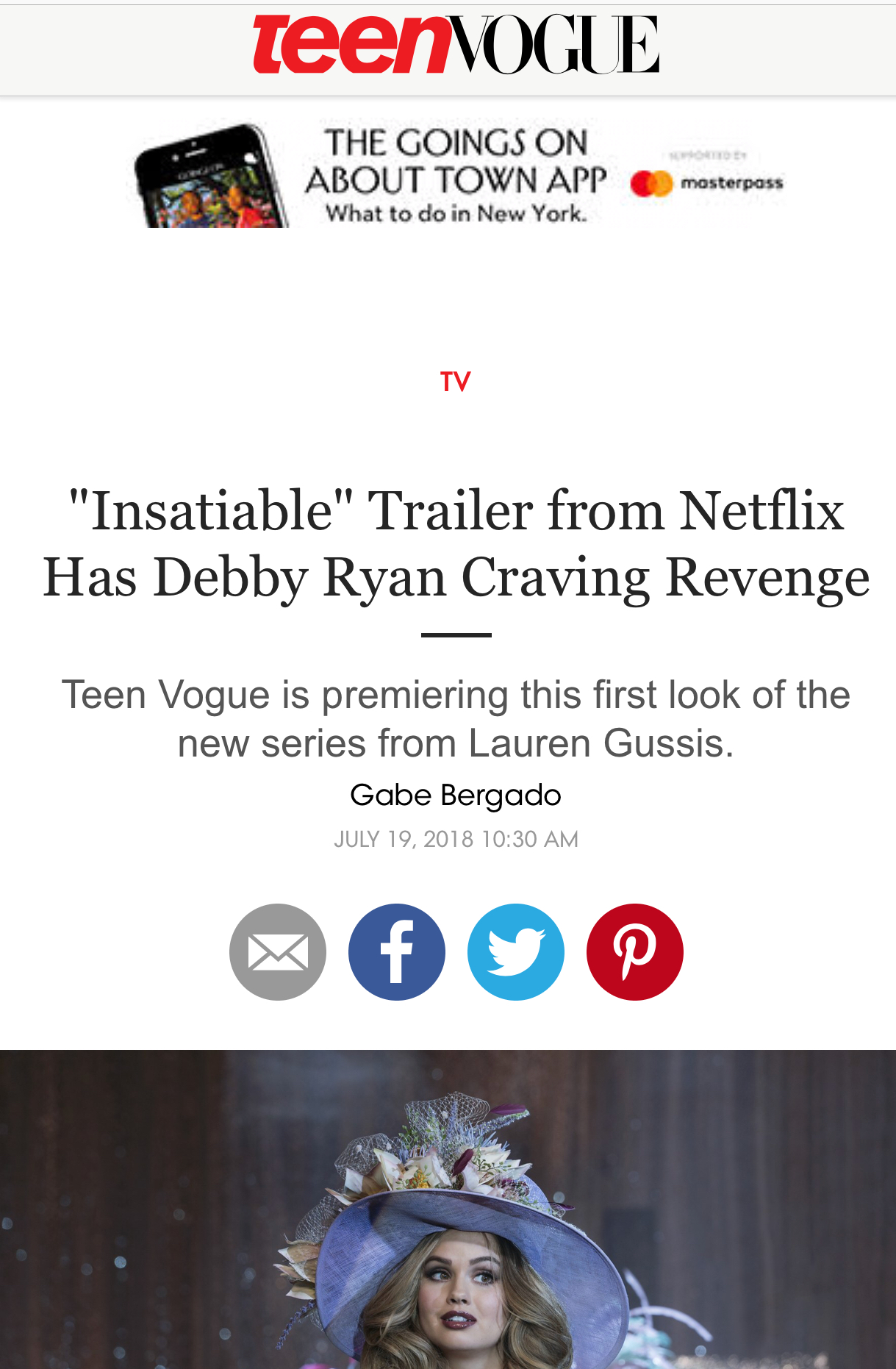 Tenn Vogue promotes Netflix's Insatiable