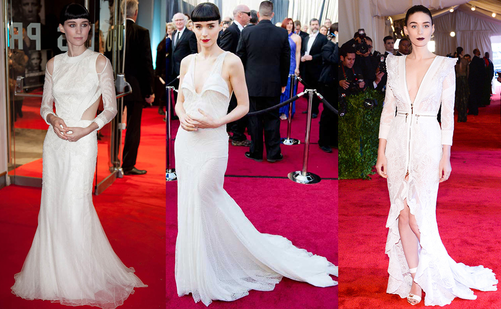 Kims wedding dress and givenchys history of epic white dresses rooney mara girl with the dragon tattoo premier 2011 oscars 2012 met ball 2013 junglespirit Choice Image