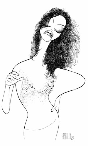 Sandra Bernhard in I'm Still Here...Damn It!, 1998 Ink on board Collection of The Al Hirschfeld Foundation