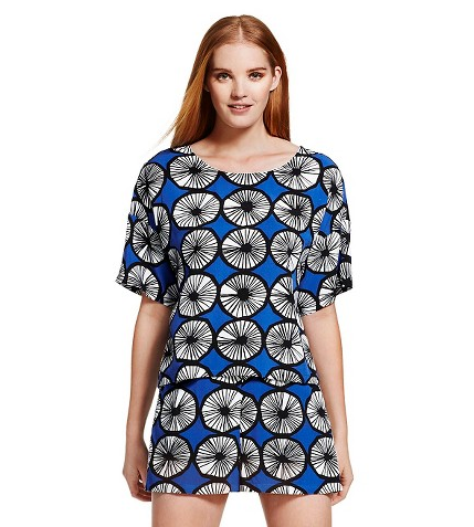 Appelsiini Print Top in Blue