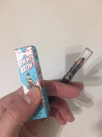 Benefit Gimme Brow gel and Maybelline Brow Precise pencil