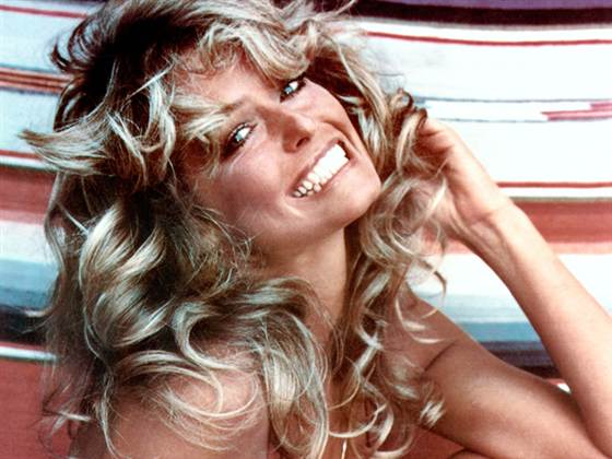 Farrah Fawcett's famous locks