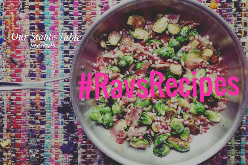 #RavsRecipes: Brussel Sprouts With Prosciutto And Pomegranate Seeds