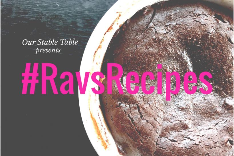 #RavsRecipe: Chocolate Molten Lava Cake WIth Cramy Almond Butter. God Bless America.