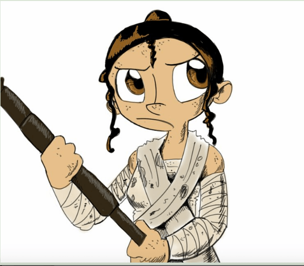 #WheresRey and #WheresLeia are legit questions (Image Credit: Deviant Art, Cayen)