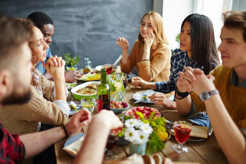 Raise a glass to Friendsgiving - feasting without any sides of controversy or conspiracy theorizing.