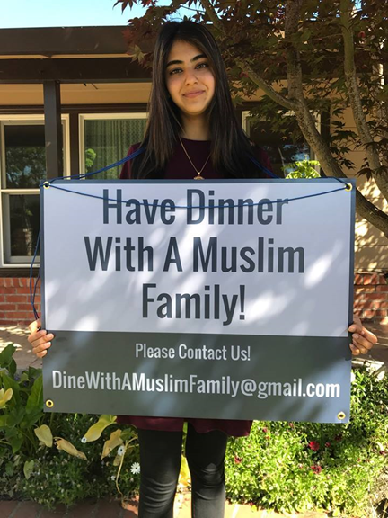 "Yusra Rafeeqi wants to invite you for dinner through ""Dine With A Muslim Family."""