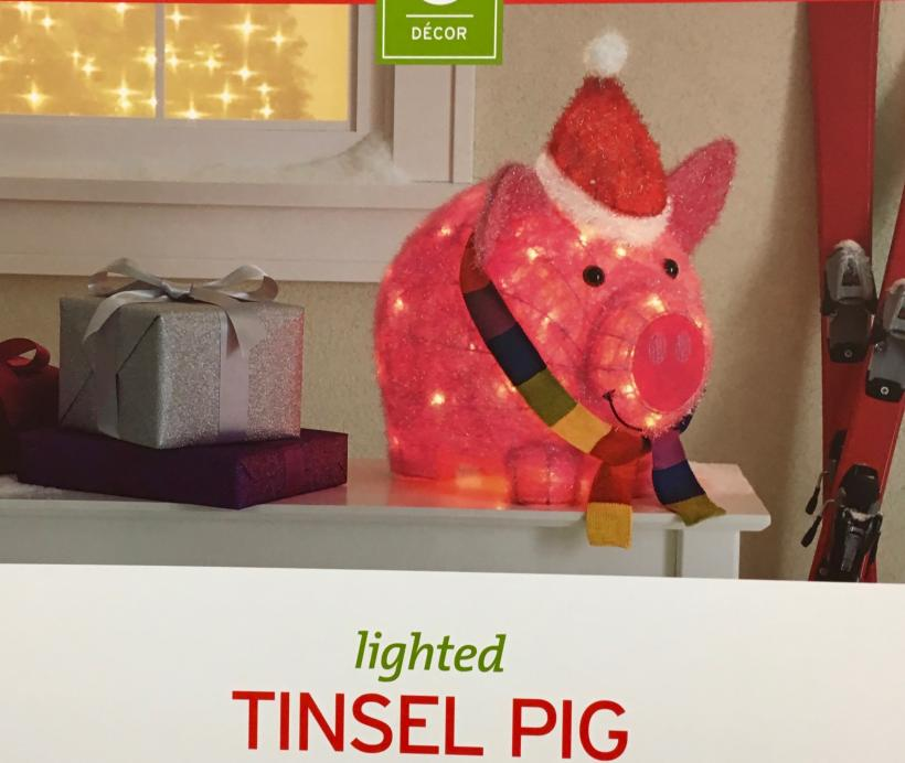 Tinsel Pig. Make your holiday dreams come true.