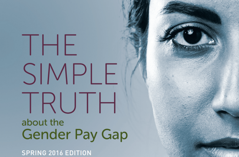 Bias against women employees accounts for as high as 40 percent of the pay gap. Image: AAUW/The Simple Truth about the Gender Pay Gap .pdf.