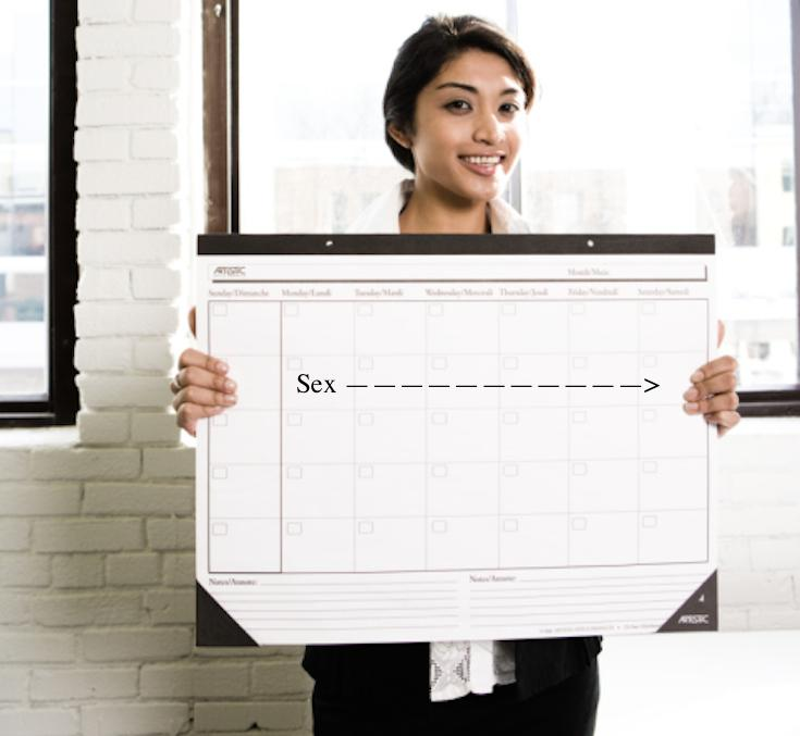 Babe, calendar this too. Courtesy of, ThinkStock