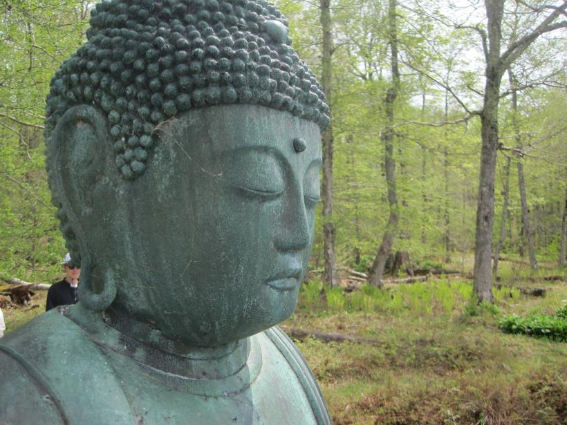 Statue at the Zen Buddhist Monastery, Upstate, NY