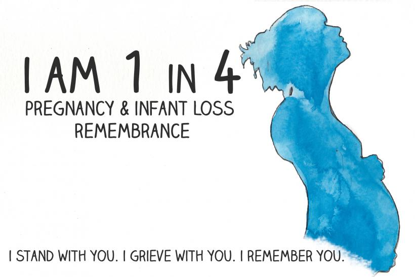 I am 1 in 4: Pregnancy And Infant Loss Remembrance Day - Image: Mariah Sharp @MightyMooseArt