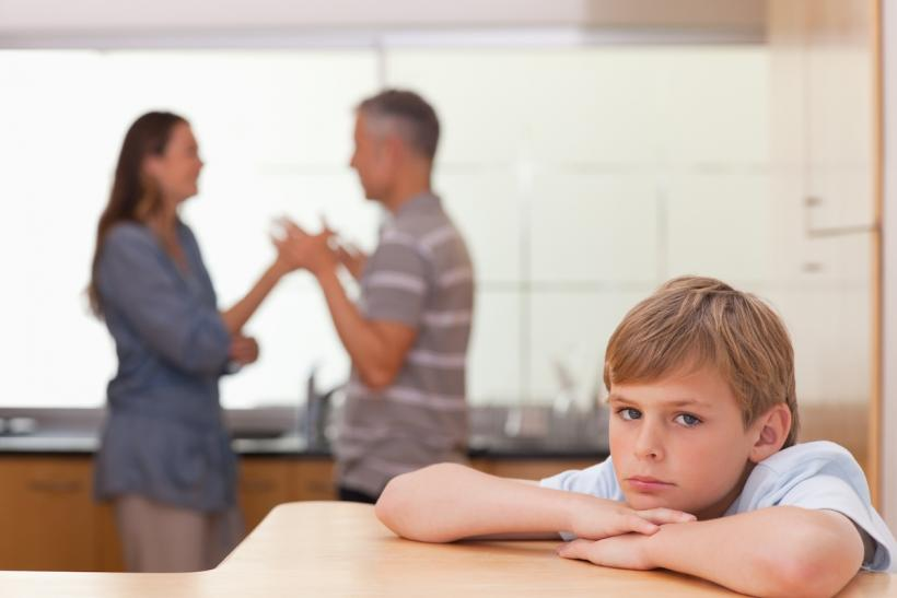 When mom and dad argue, oftentimes, the child feels responsible and that it's their fault.