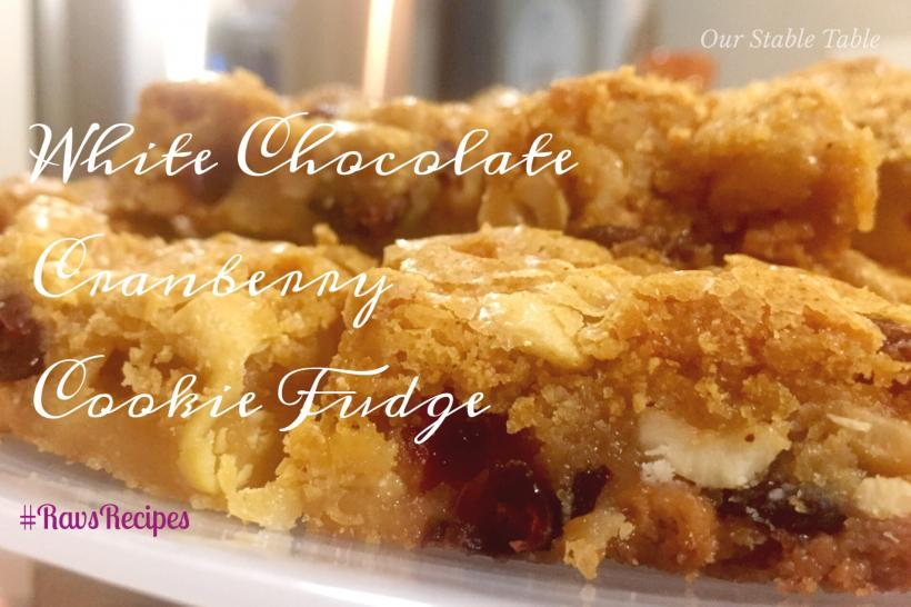 Part cookie, part fudge, part heaven in your mouth - white chocolate cranberry cookie fudge!