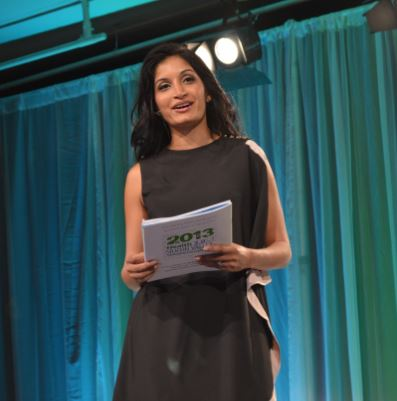 Indu on stage at the 2013 Health 2.0 conference