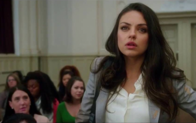 """Bad Moms is adorably predictable: Mila Kunis plays Amy Mitchell, a stereotypical do-it-all mom who bows and scrapes to Christina Applegate, who kills it as Gwendolyn, the Head Bitch in Charge of the PTA."" Image: Youtube"
