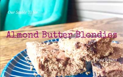 Blondies for breakfast - deliciousness delivered.