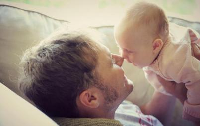 Serve: baby does something. Return: you react in kind. (Image: Thinkstock)