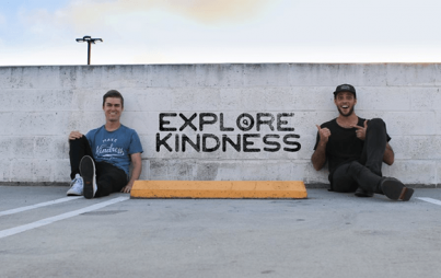Dalton Lamert and Alex Radelich have been spreading kindness across the U.S. since 2012. (Photo Credit: @ExploreKindness Facebook)