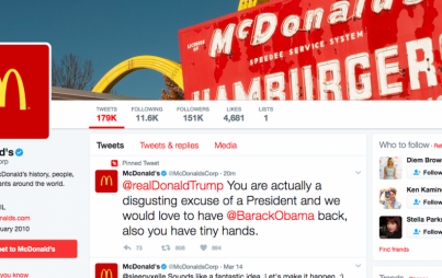 Look at this: they managed PIN that hacked McDonald's tweet!