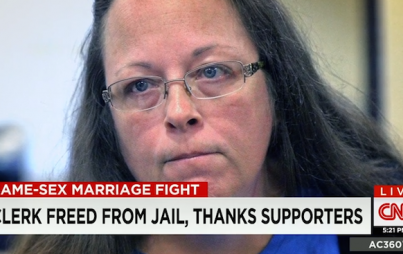 Why has Kim Davis not been fired yet?