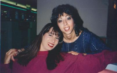 The writer with Christy Canyon