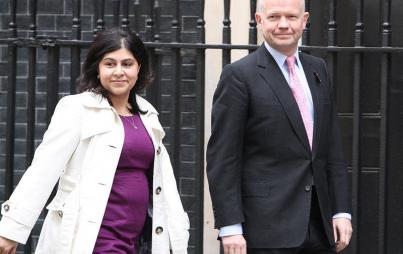 Baroness Warsi with William Hague, Leader of the House of Commons (Credit: Wikimedia Commons)