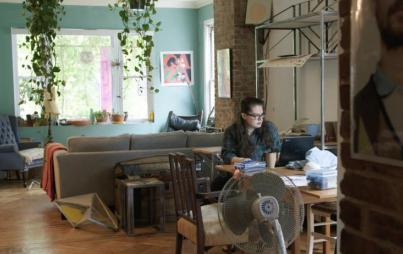 The author in her home. Photo courtesy of My So-Called Selfish Life