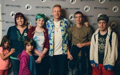 The author meets Macklemore.