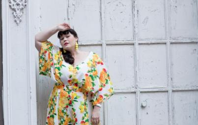 Amber of Style Plus Curves wears a jumpsuit by ASOS. Photo by Lydia Hudgens.